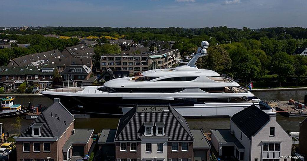 luxury yacht podium in the netherlands