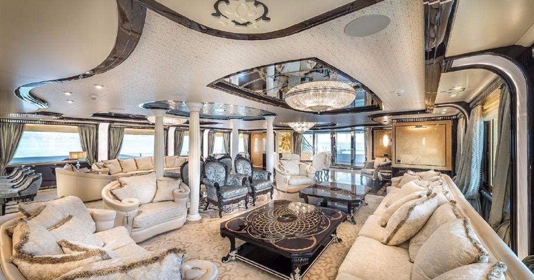 salon on superyacht elements