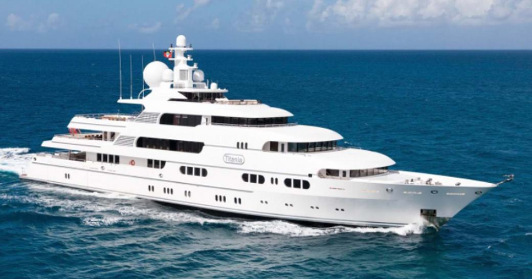 Superyacht TITANIA out at sea.