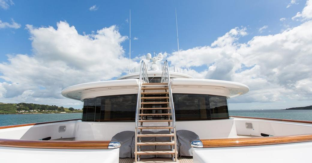 The refit of the sundeck belonging to luxury yacht AQUILA