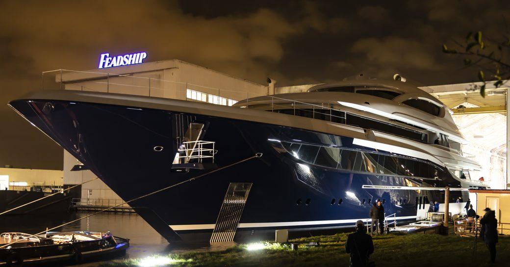 feadship luxury yacht podium