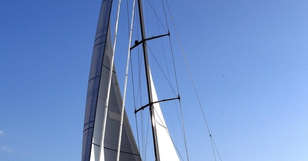 Perini Navi sailing yacht Perseus3 cruising in the Mediterranean