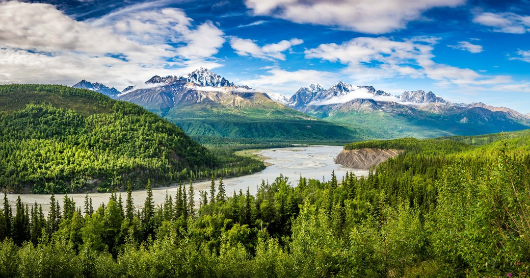 the evergreen forests of Alaska barely chartered by superyachts but certainly worth a vacation for complete privacy and seclusion in nature