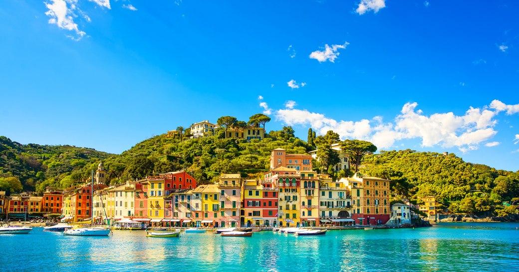 Portofino harbour with small boats, Italy