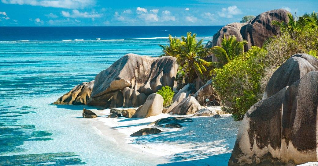 Dramatic beaches in Seychelles