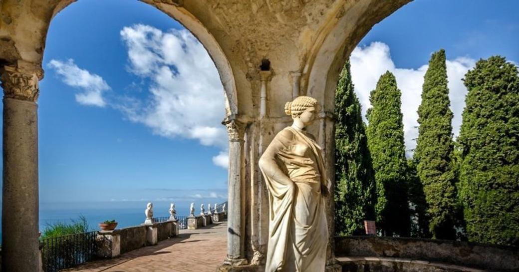 Statues in Villa Cimbrone, on the Amalfi Coast
