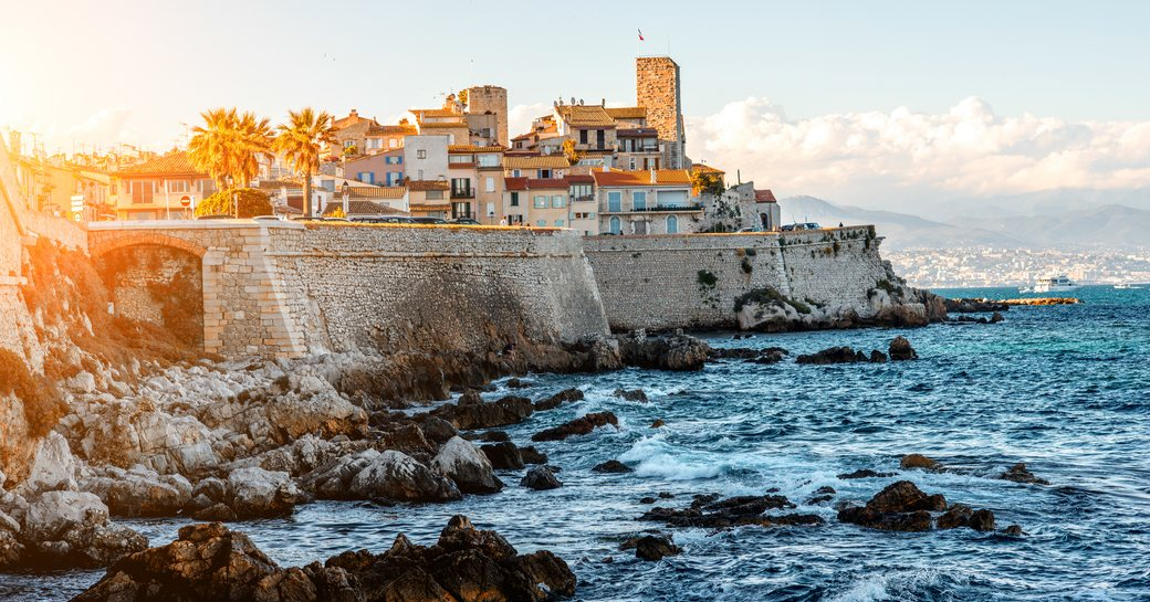town on the sea in the french riviera