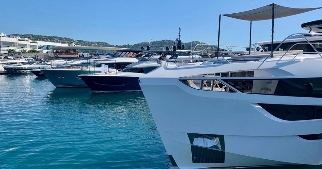 Boats on display at Cannes Yachting Festival 2019