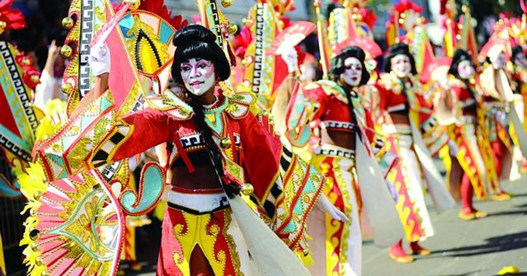 The Valley Boys parade at junkanoo carnival
