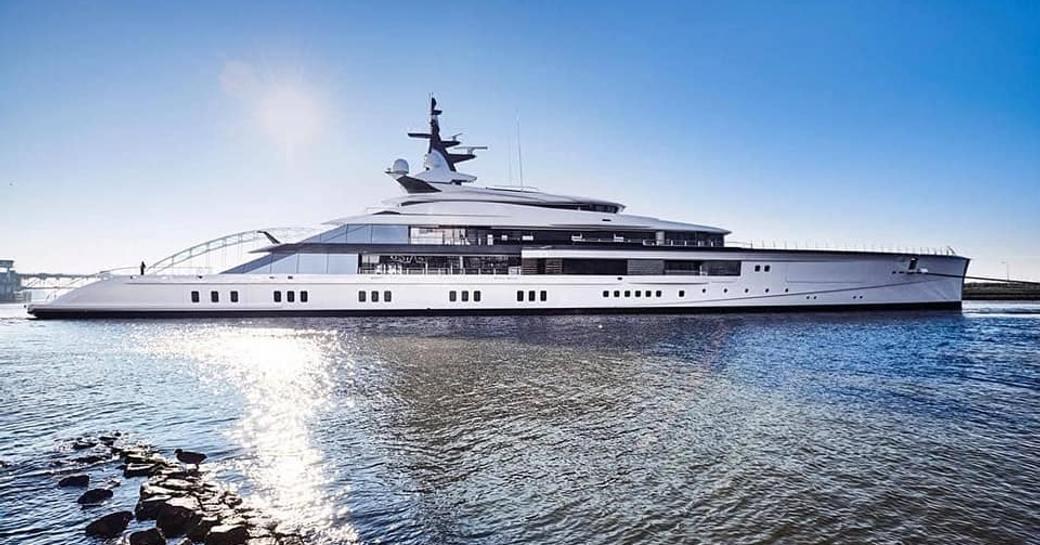 Superyacht Bravo Eugenia on the water