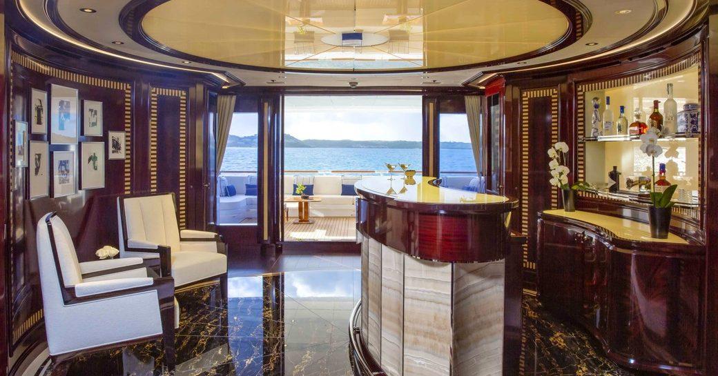 superyacht bar onboard rockit
