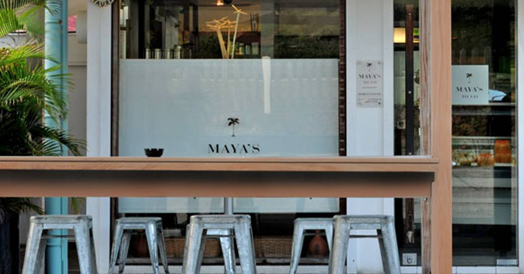 outside view of Maya's restaurant in in St Barts