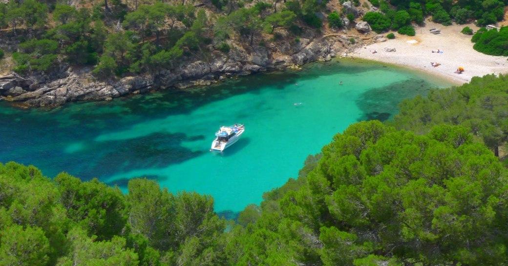 Cala Murta beach in Mallorca in the Balearics