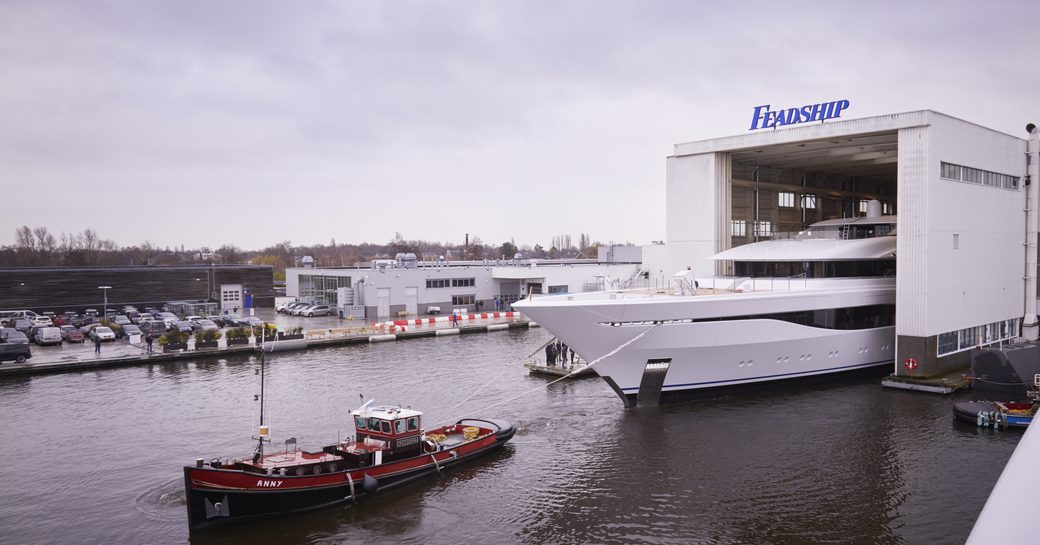 75m Feadship superyacht ARROW hits the water photo 3