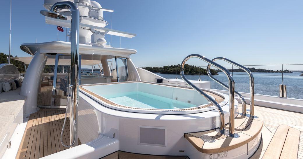 4-metre pool on the sundeck of motor yacht LILI
