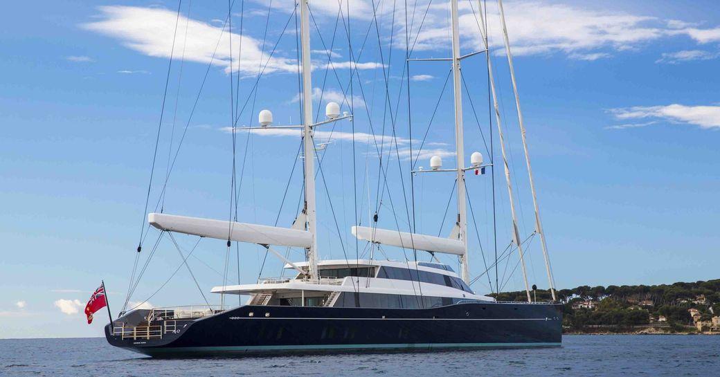 Sailing yacht AQUIJO sat at anchor