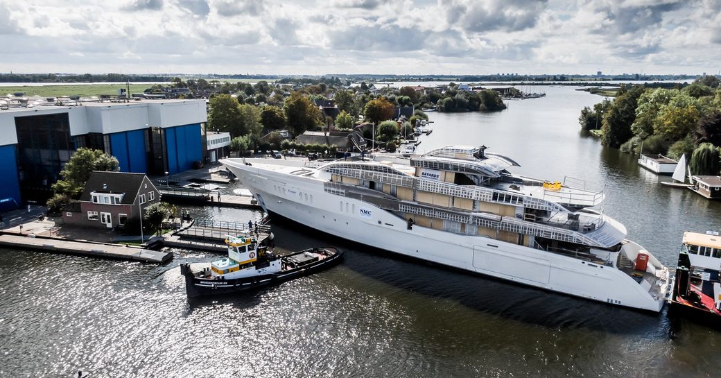 Feadship superyacht Project Galina, formerly Feadship 819, now ready for outfitting photo 1