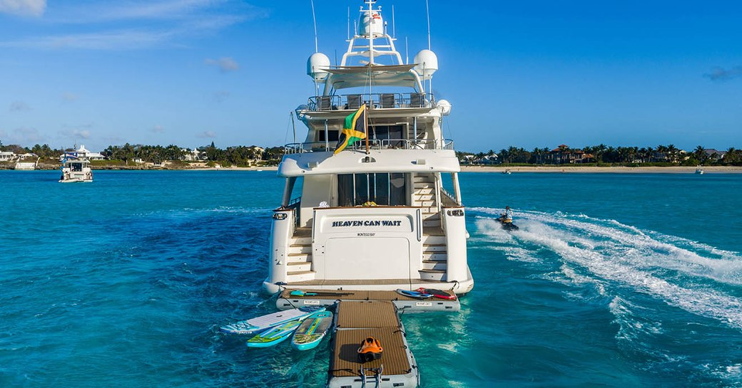Aft deck of Heaven Can Wait