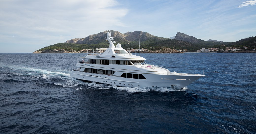 luxury yacht GO cruises for charter in St Barths over the holidays
