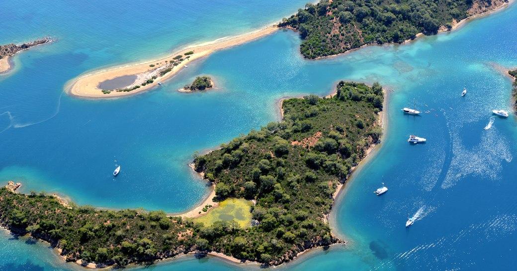Gocek islands off Fethiye in Turkey