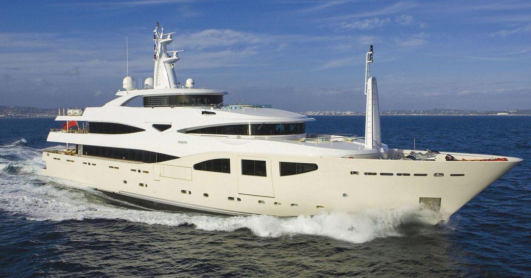 Superyacht MARAYA cruising