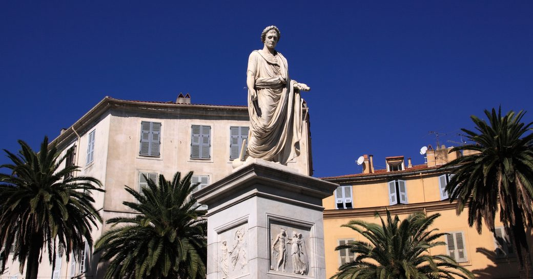 statue of Napoleon in Ajaccio, Corsica