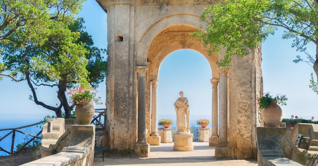Beautiful ruins in Positano, Italy