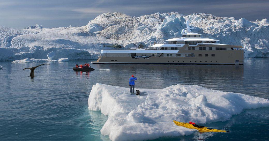 superyacht la datcha cruises in antarctica