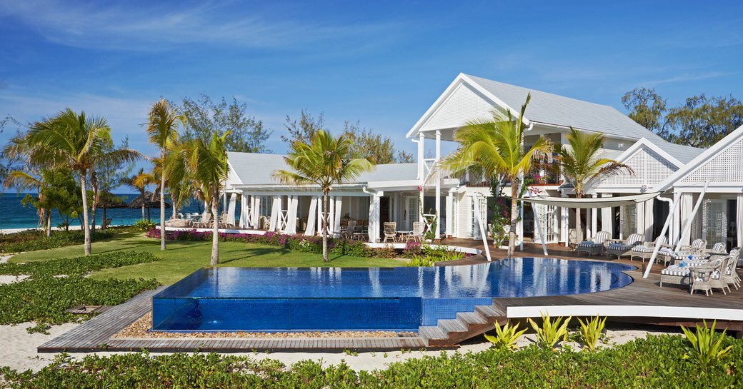 pool in front of villa accommodation on thanda island