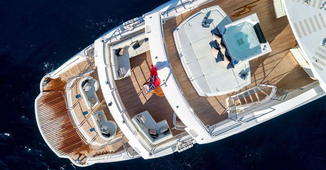 ANYA superyacht aerial image