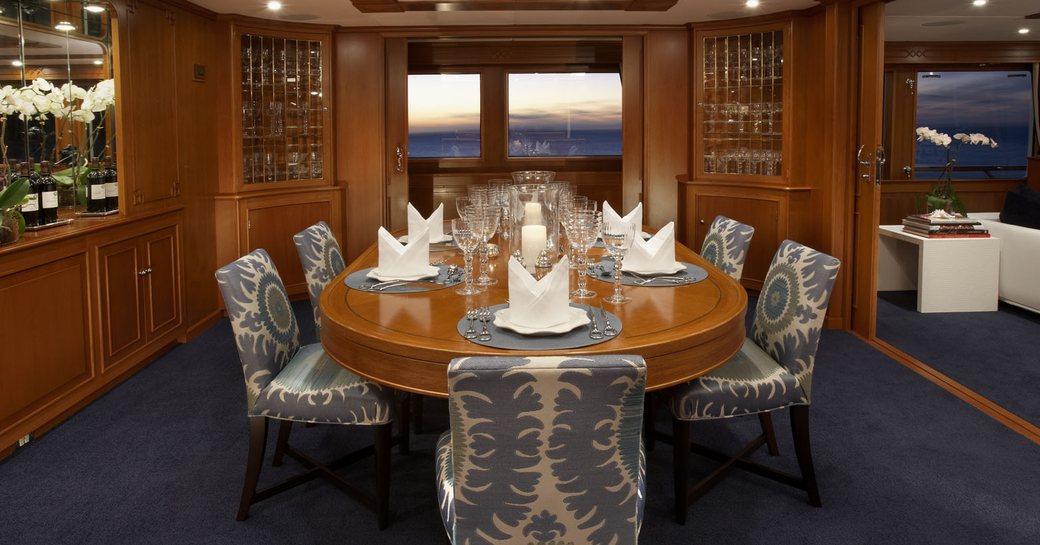 MY AUDACIA's elegant formal dining room