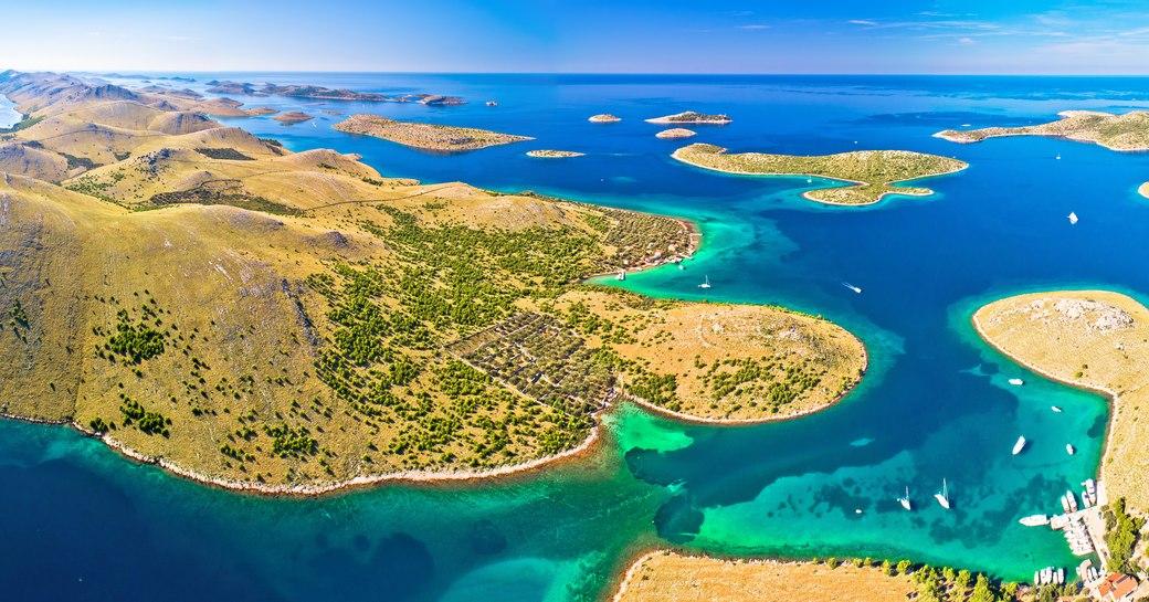 Aerial view of Kornati islands
