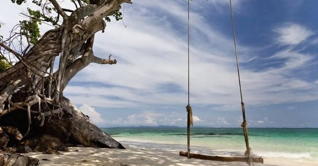 Thailand swing on beach