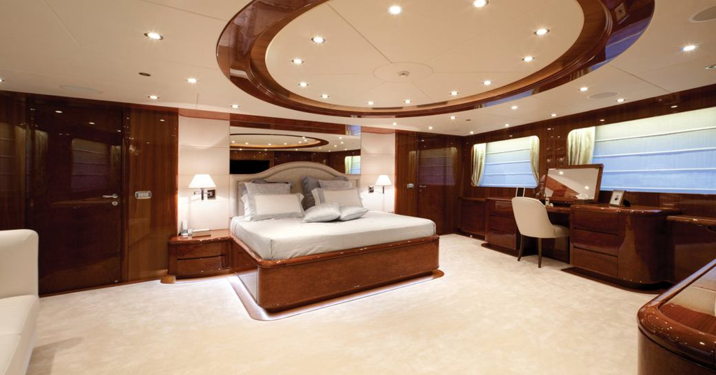 Owner's suite of superyacht Baron Trenck