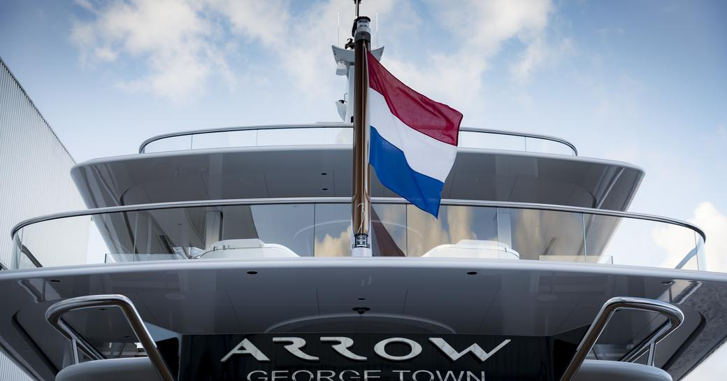motor yacht arrow aft decks