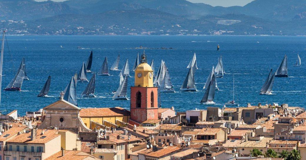 sailing yachts competing at Les Voiles de Saint-Tropez
