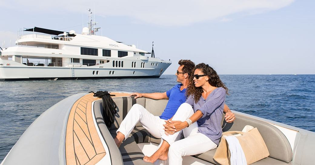 motor yacht IDOL available for luxury yacht charter in cannes for cannes film festival