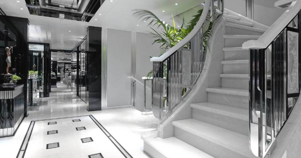 The interior of superyacht 'Silver Angel'