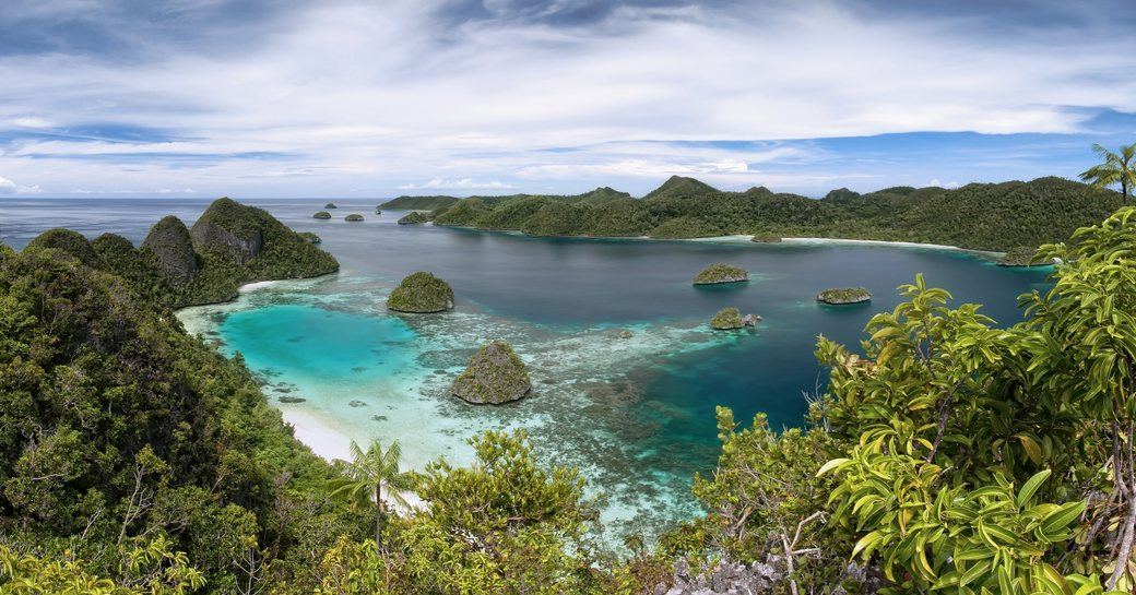 beautiful view of the Rajat Ampat Islands in Indonesia