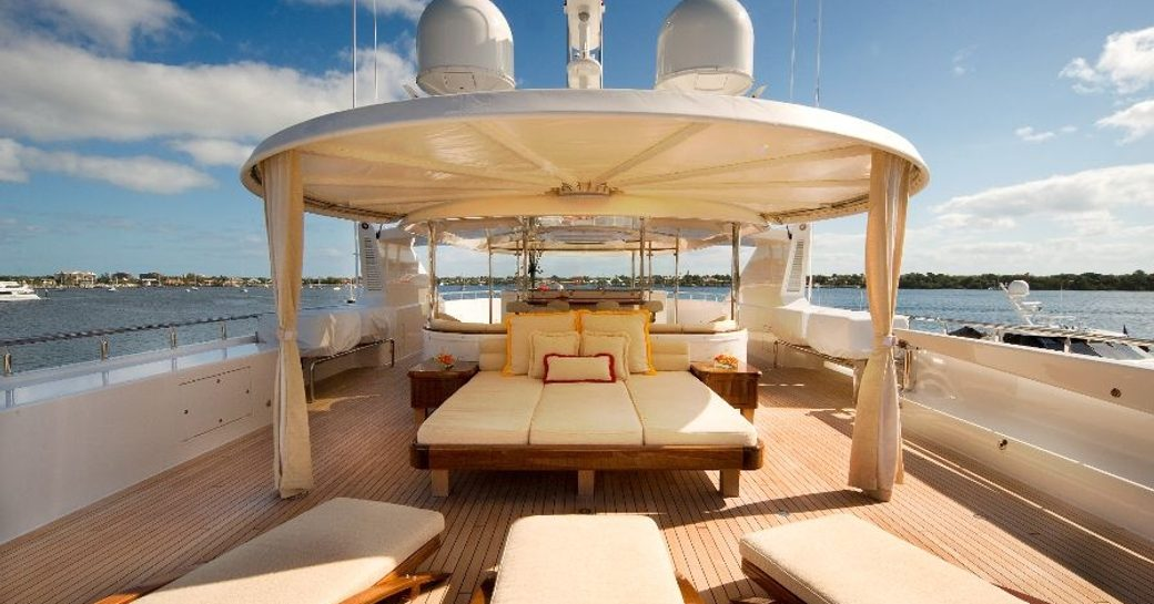 superyacht HARMONY available for christmas charter in the Caribbean