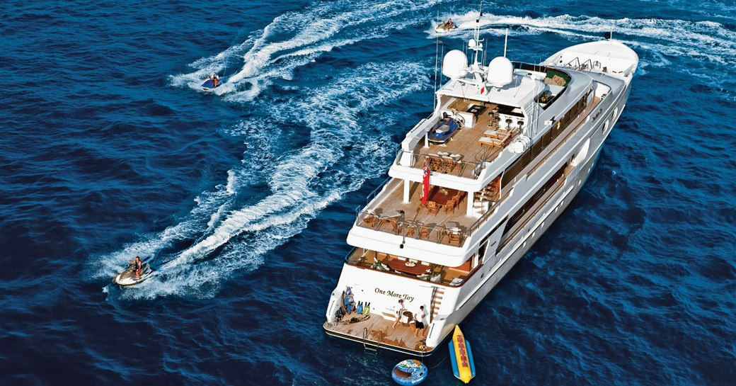 Motor yacht 'One Last Toy' with extended tender