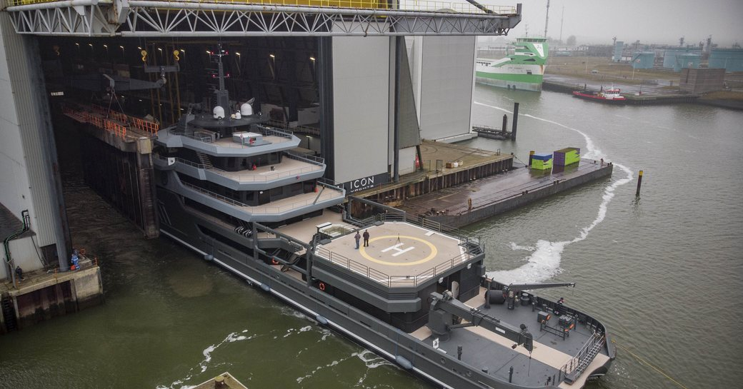 RAGNAR superyacht rolls out of shed at ICON