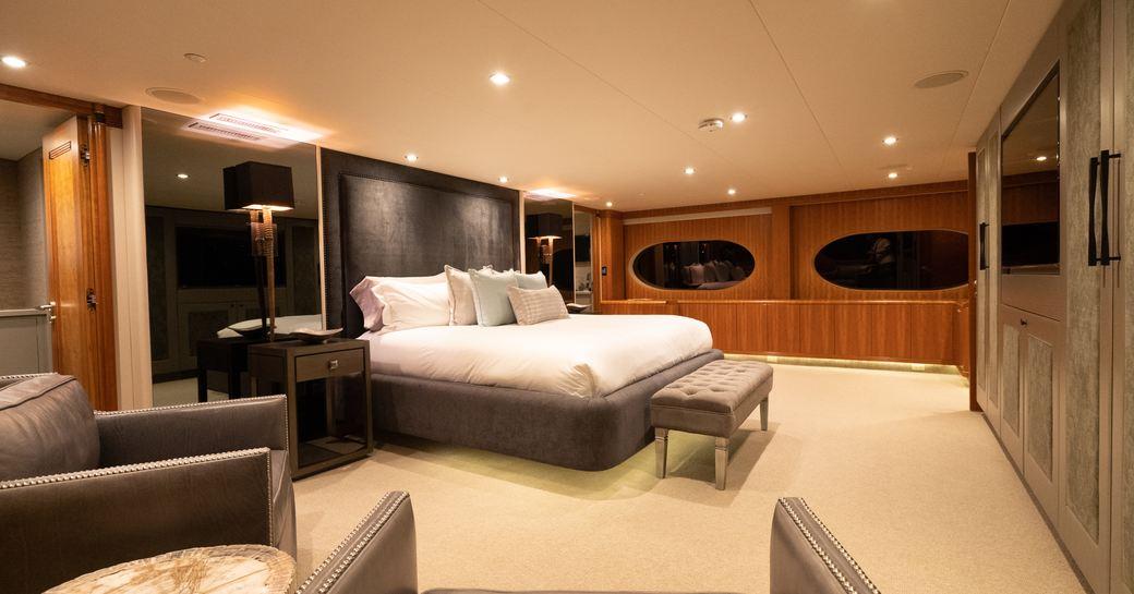 Elegant large cabin on superyacht ZEAL
