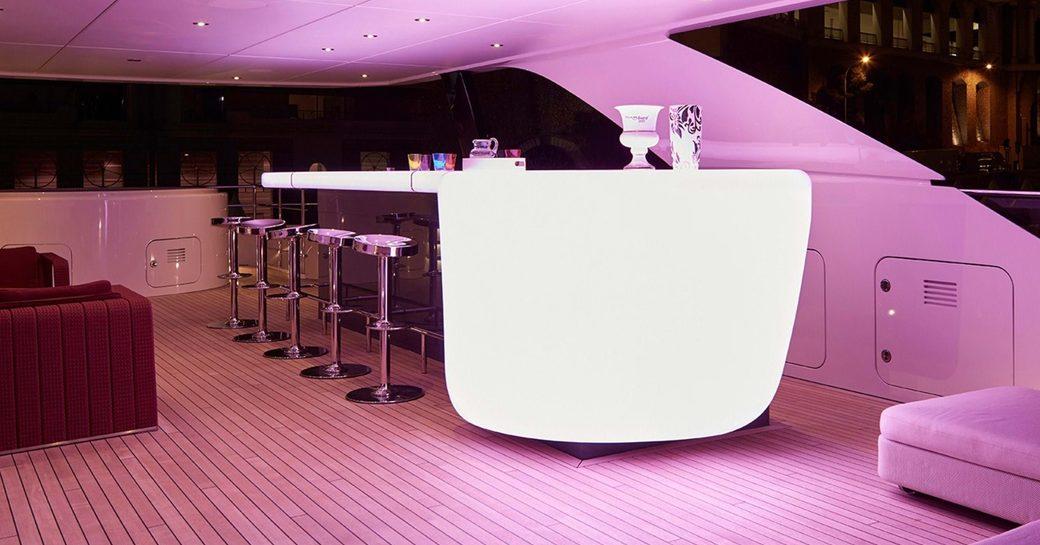 superyacht home bar
