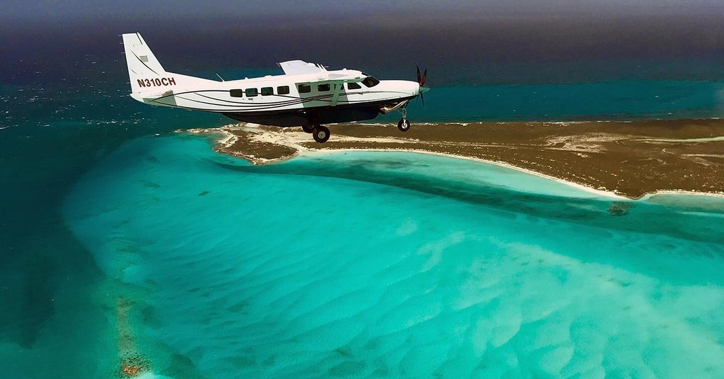 makers air flight flying into staniel cay in the bahamas