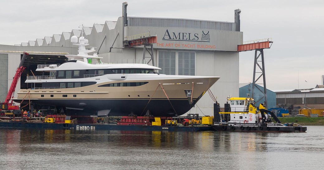 motor yacht LILI launches from Amels shipyard