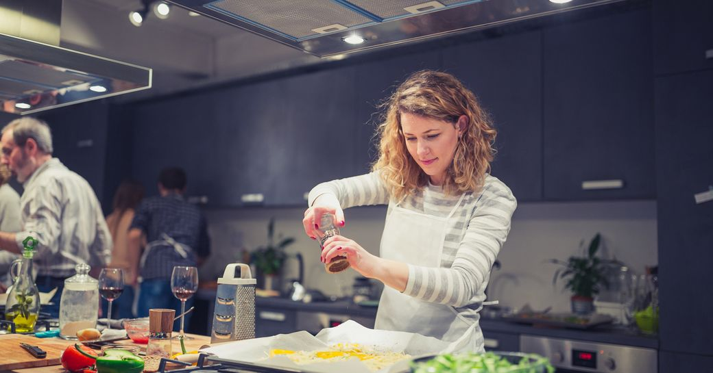cooking classes on board private charter yacht