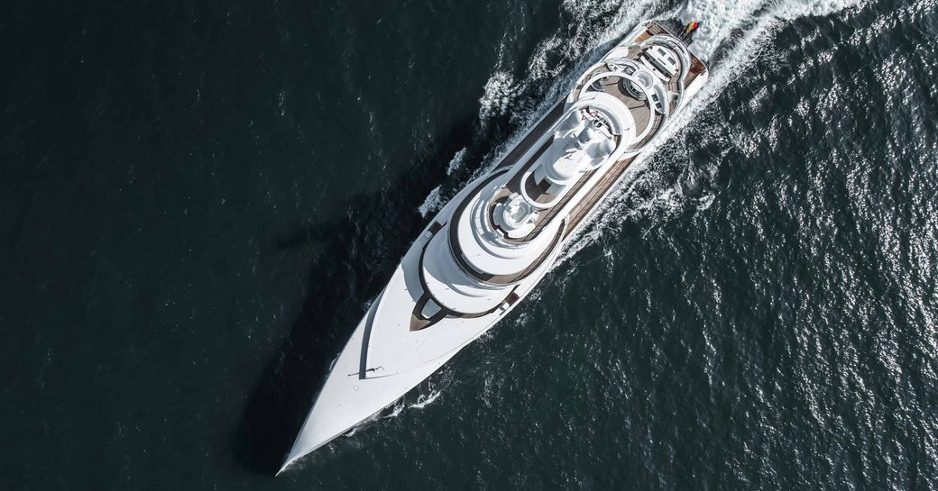 Aerial image of luxury yacht EXCELLENCE