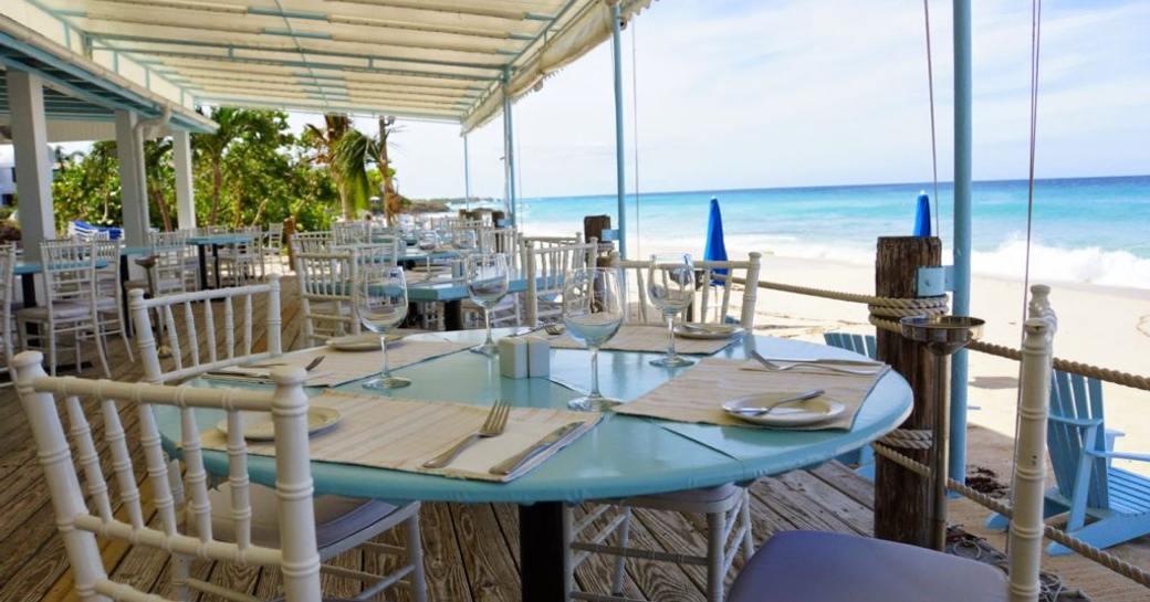 beautiful beach-side restaurant Mango's in Anguilla