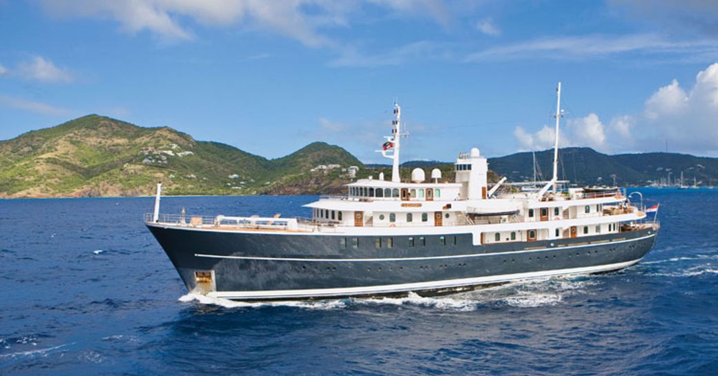 classic yacht SHERAKHAN cruises on a luxury yacht charter in CUba